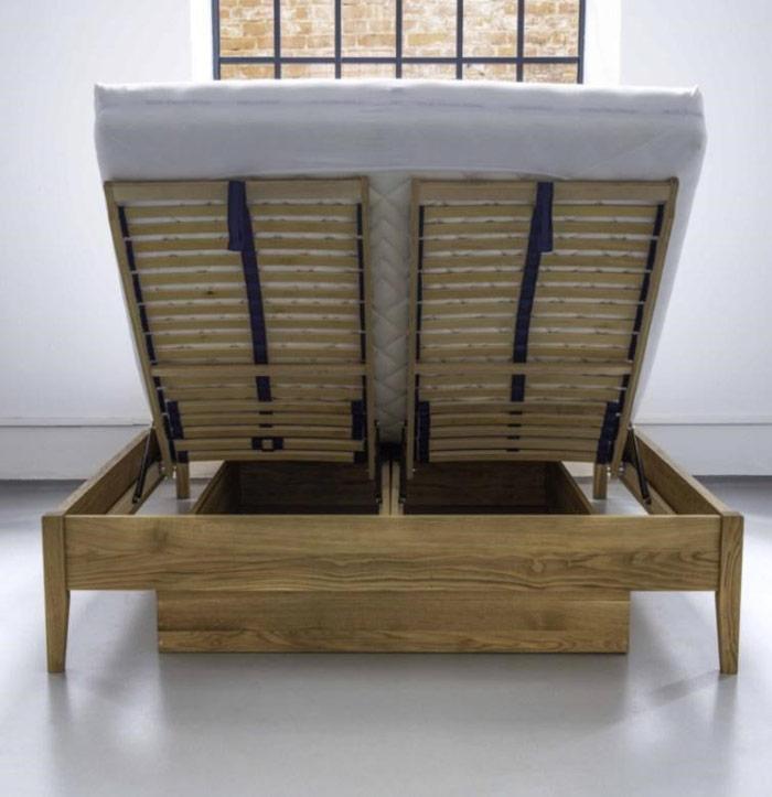 Łóżko zpojemnikiem-na-pościel pojemniki iseparatory