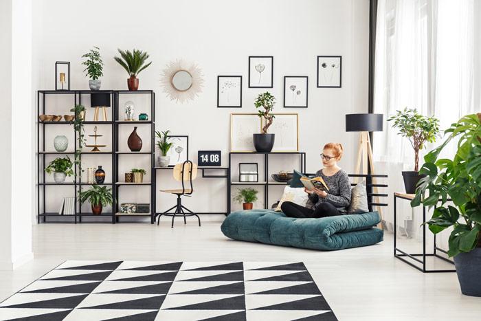 Materac – futon może służyć dospania lub– poodpowiednim złożeniu – pełnić funkcję siedziska